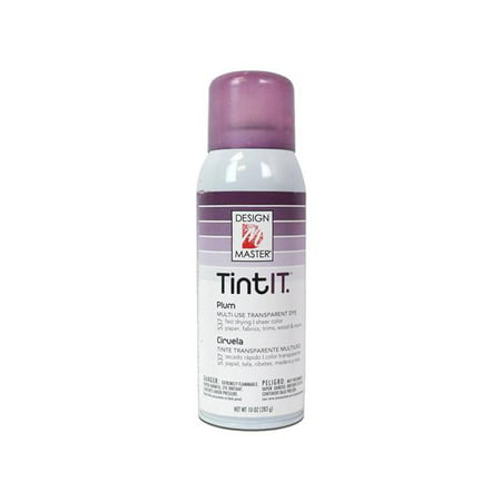 Design Master Tint IT 10 Ounce Transparent Plum Multi-Colored Dye Spray Paint, 1 Each](Dye Spray)