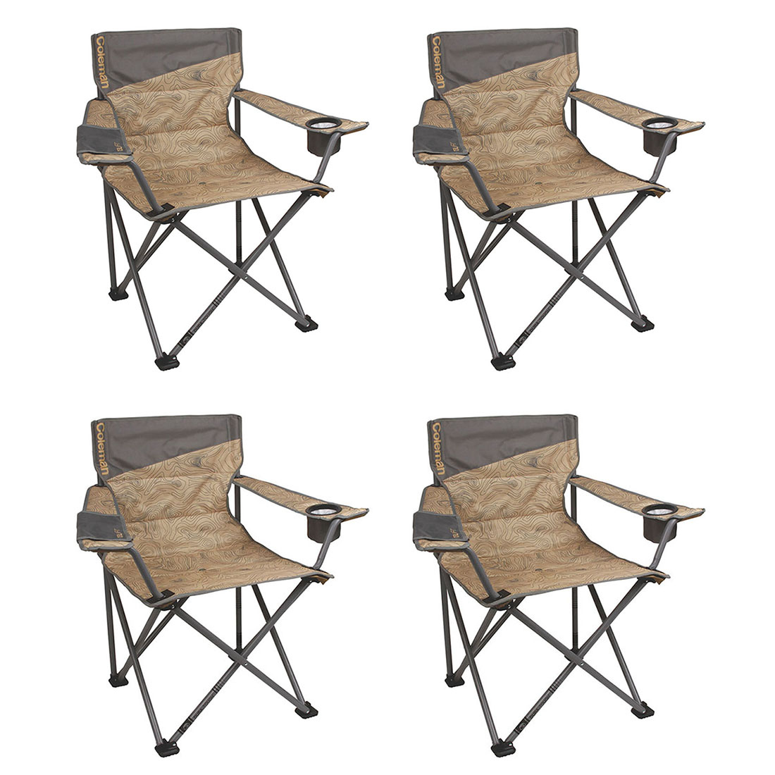Coleman Oversized Big-n-Tall Quad Camping Chairs (4 Pack) | 4 x 2000023590