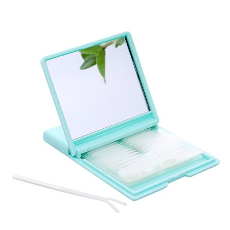Portable Breathable Natural Invisible Double Eyelid Tape Self-Adhesive Double Eyelid Stickers Instant Eye Lift Strips With Portable Packing Box Beauty Tool (Green)