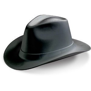 VCB200 Adult's Hard Hat Cowboy Style Black One Size, Quantity in Order: 1 By Occunomix ()