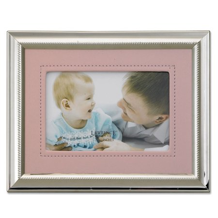 Lawrence Frames Metal Picture Frame with Faux Leather Mat