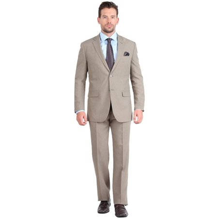 Mens Three Button Notch Lapel Suit Set