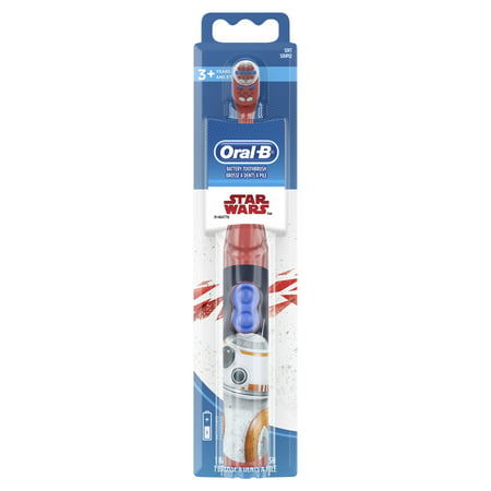 Oral-B Kids Battery Powered Electric Toothbrush Featuring Disney STAR WARS with Extra Soft Bristles, for Children and Toddlers age 3+ (Oral B Stages Electric Toothbrush)