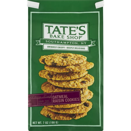 Oatmeal Raisin Walnut - Tate's Bake Shop Oatmeal Raisin Cookies, 7 Oz.