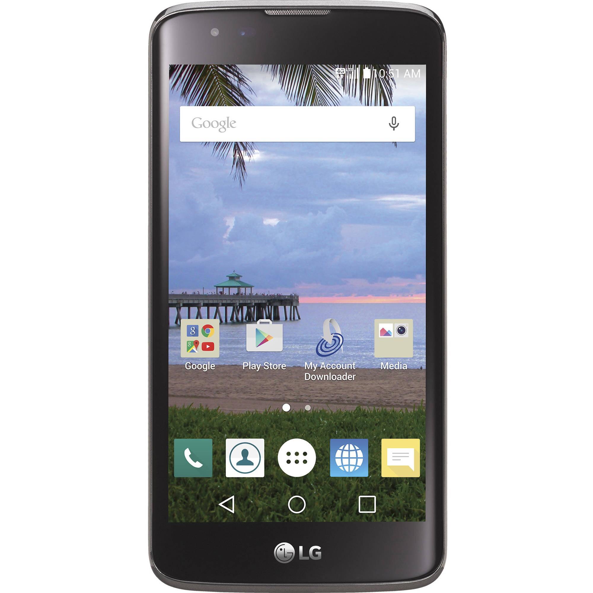 Straight Talk LG Treasure 8GB Prepaid Smartphone, Black