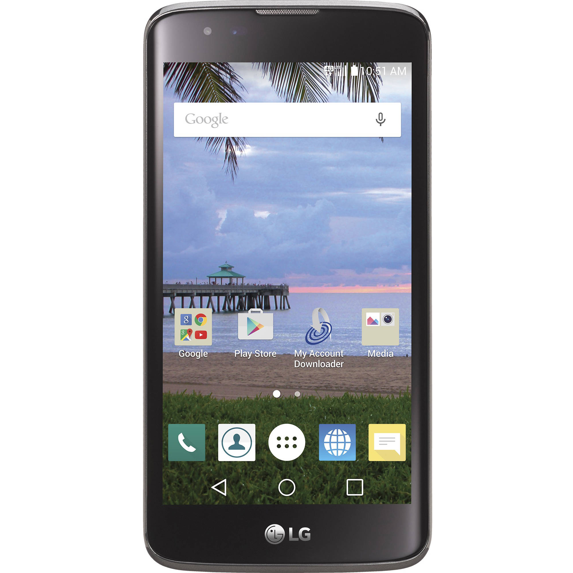 Straight Talk LG Treasure 8GB Prepaid Smartphone, Black