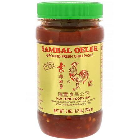 Huy Fong Foods Inc., Sambal Oelek, Ground Fresh Chili Paste, 8 oz(pack of
