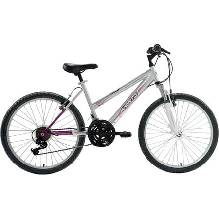 Hardtail Disc - Mantis I Girl's Highlight 24 MTB Hardtail Bicycle, Silver