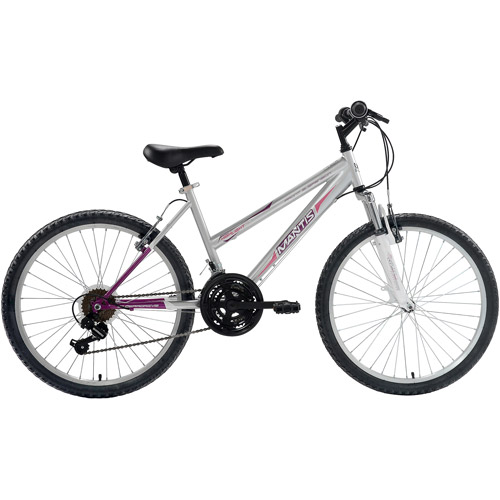 Mantis I Girl's Highlight 24 MTB Hardtail Bicycle, Silver