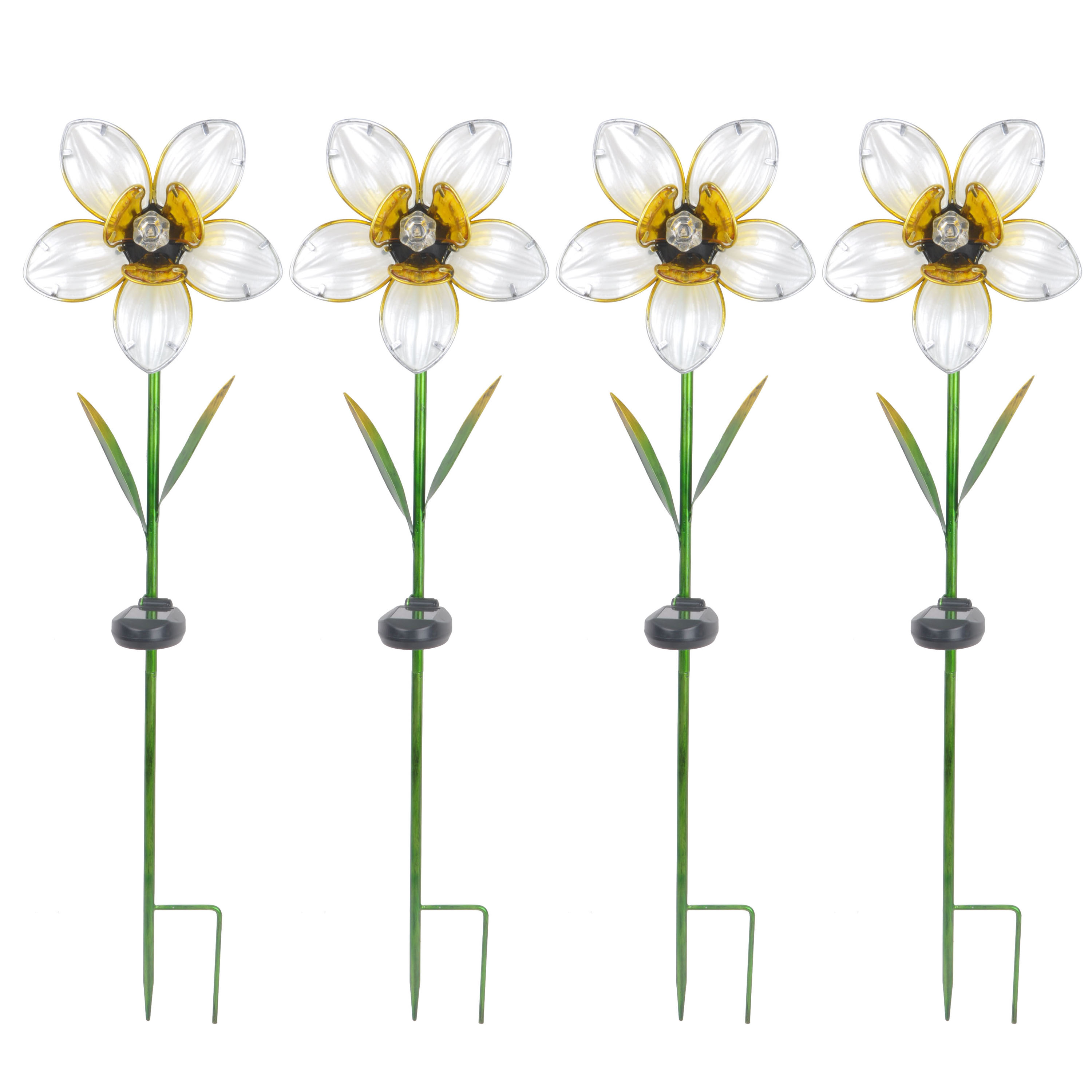 Better Homes and Gardens Outdoor Solar Daffodil Garden Stake