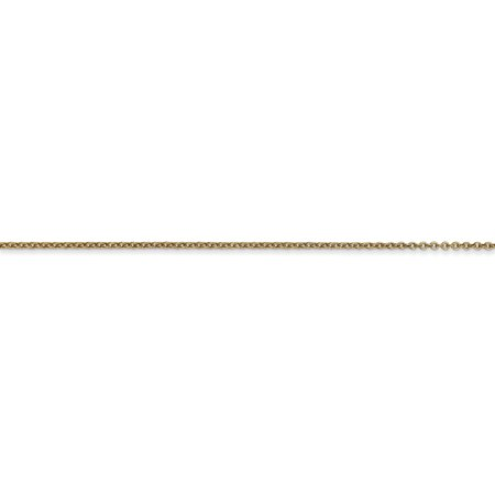 14K Yellow Gold .9mm Cable Chain 24 Inch - image 2 de 5