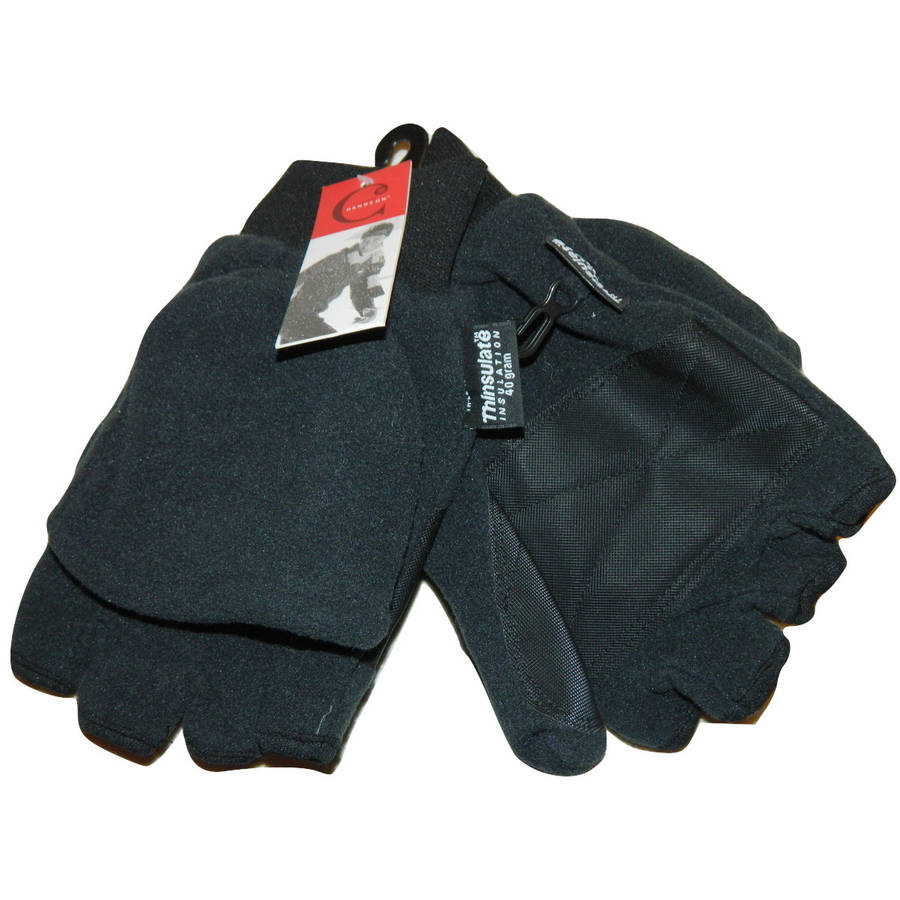 CT8427, Men's Micro Fleece Flip-Top Glove, 40 gm 3M Thinsulate Lined (One Size Fits Most)