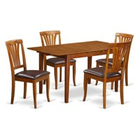 East West Furniture Picasso 5 Piece Lath Back Dining Table Set