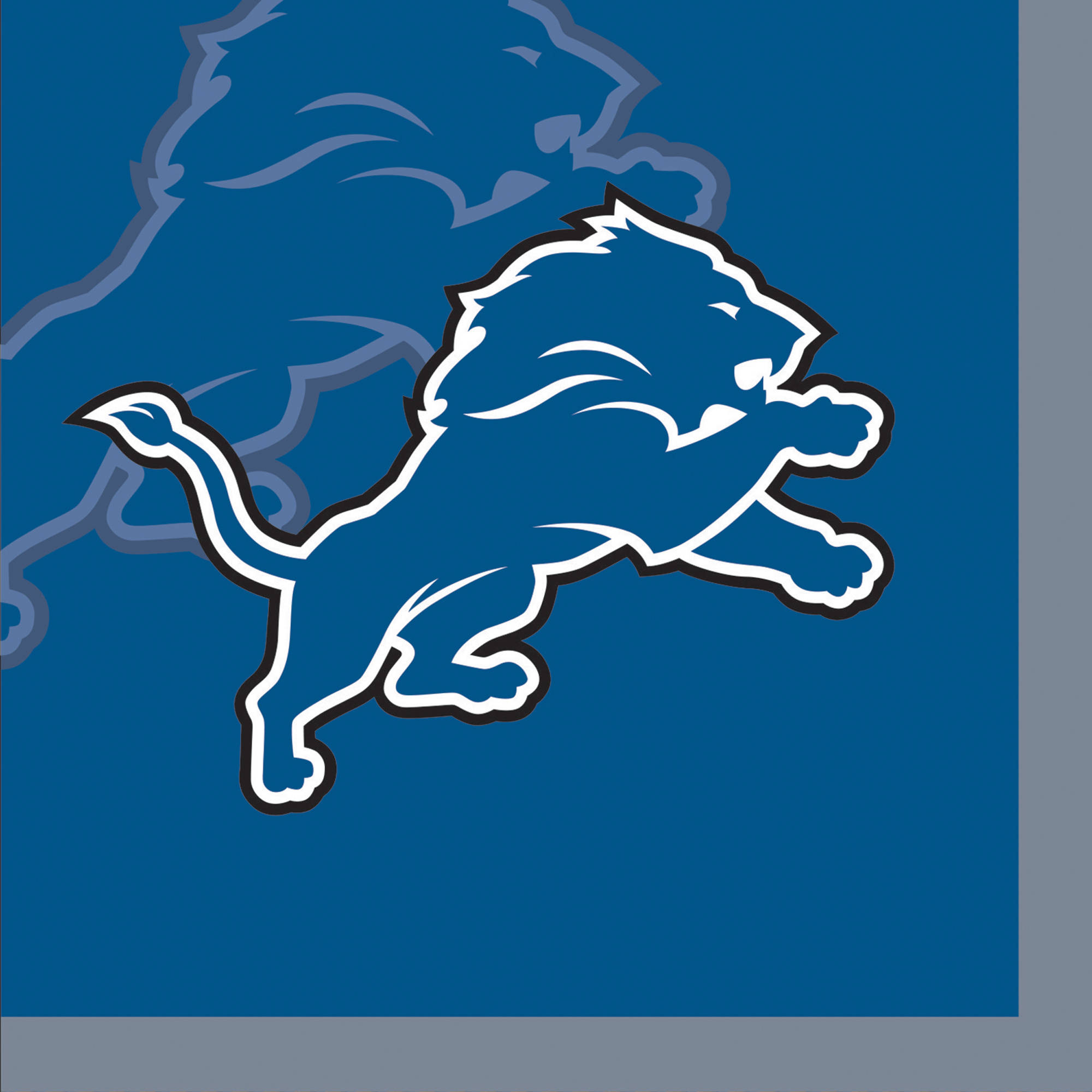 Detroit Lions Beverage Napkins, 16-Pack