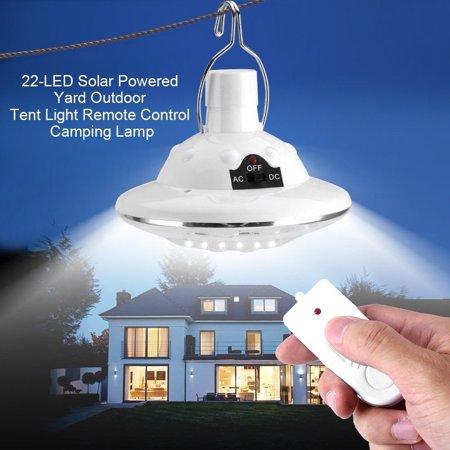New 22LED Outdoor/Indoor Solar Lamp Hooking Camp Garden Lighting Remote Control ()