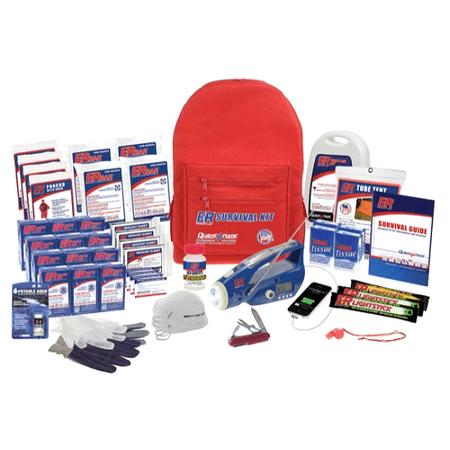 Quake Kare 4 Person Ultimate Deluxe Backpack Survival Kit