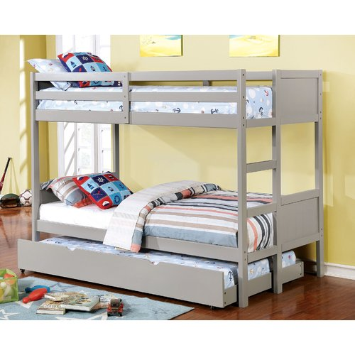 Harriet Bee Santucci Full Over Full Bunk Bed With Drawers