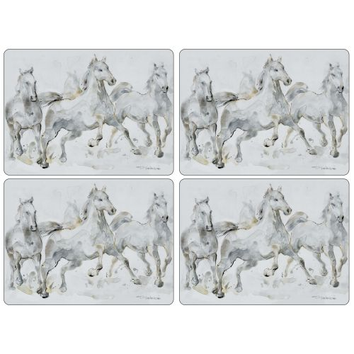 "Pimpernel Spirited Horses Placemats, S/4, 16""x 12"""