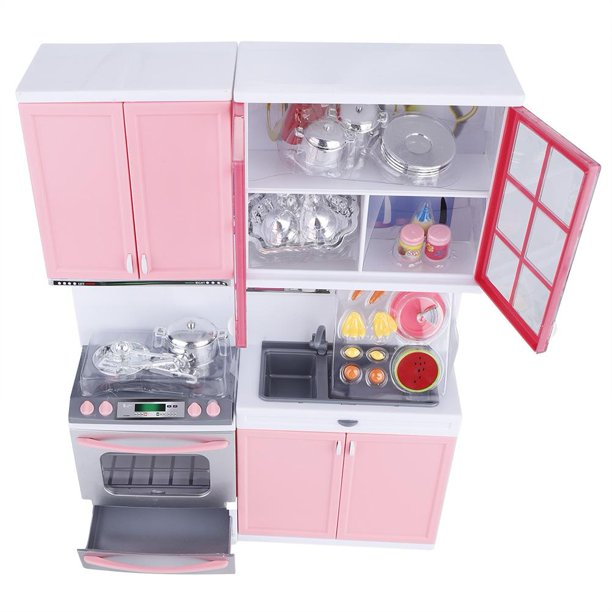 Tebru Mini Kitchen Pretend Role Play Toy Set Funny Kitchenware Playing House Gifts For Children Girls Toys Walmart Com