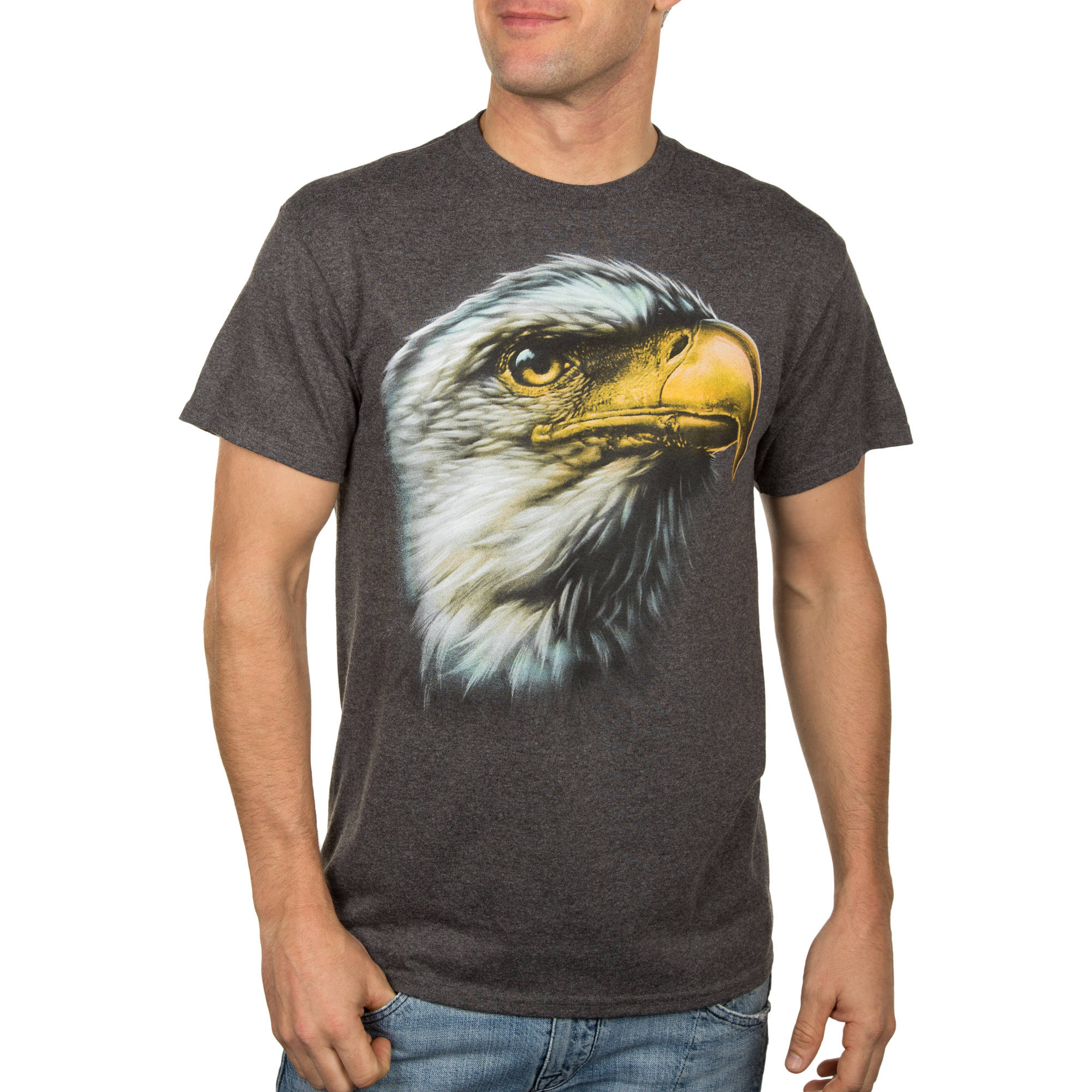 Men's Charcoal Grey Eagle Sight Generic Graphic Tee