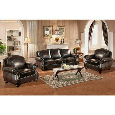Fleur De Lis Living Janay 3 Piece Leather Living Room Set