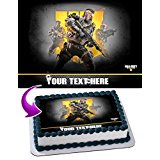Call of Duty Black Ops IV Edible Cake Topper Personalized Birthday 1/4 Sheet Decoration Custom Sheet Party Birthday Sugar Frosting Transfer Fondant Image for cake (Custom Decorations)