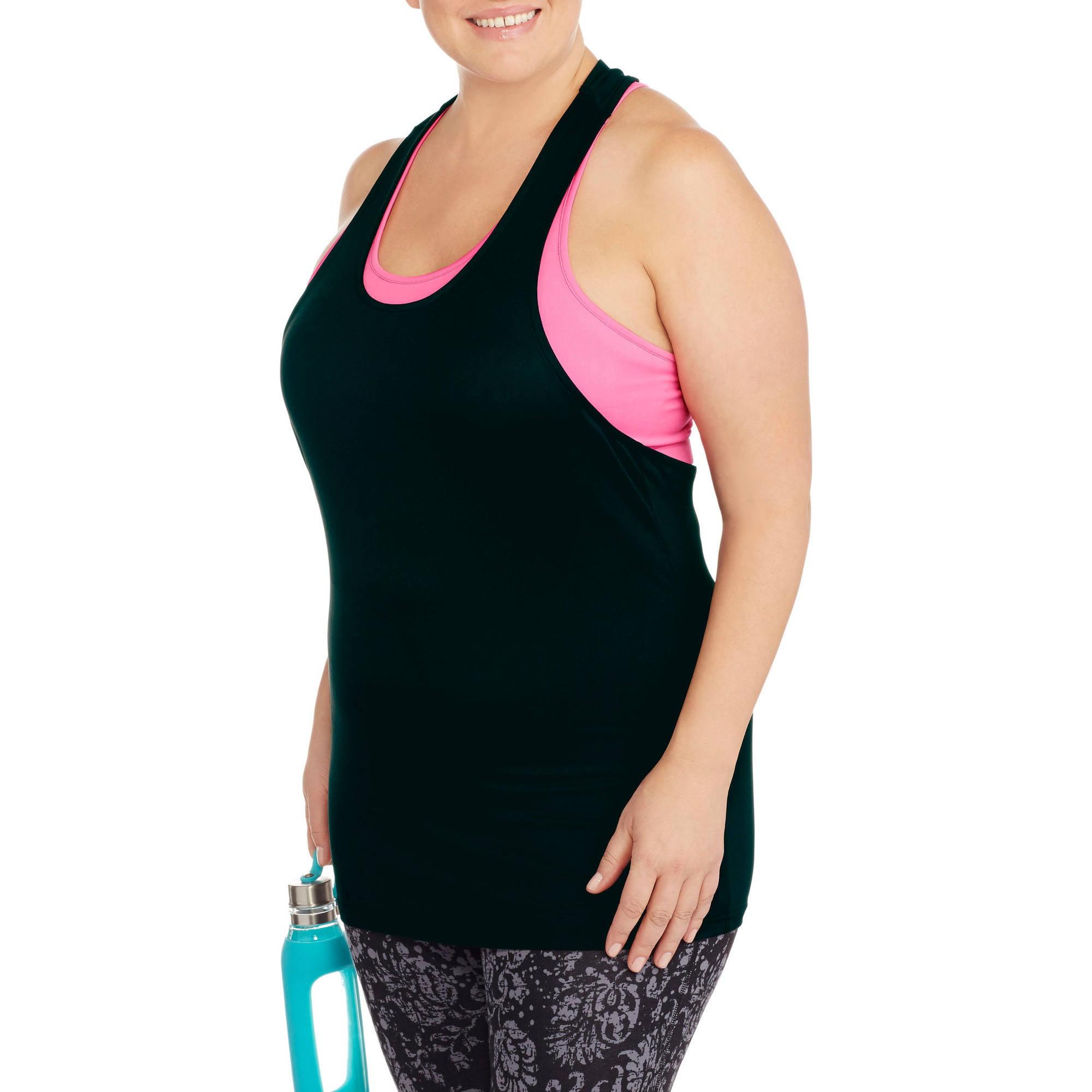 Women's Plus-Size  2 Pc Color Contrast Bra / Tank
