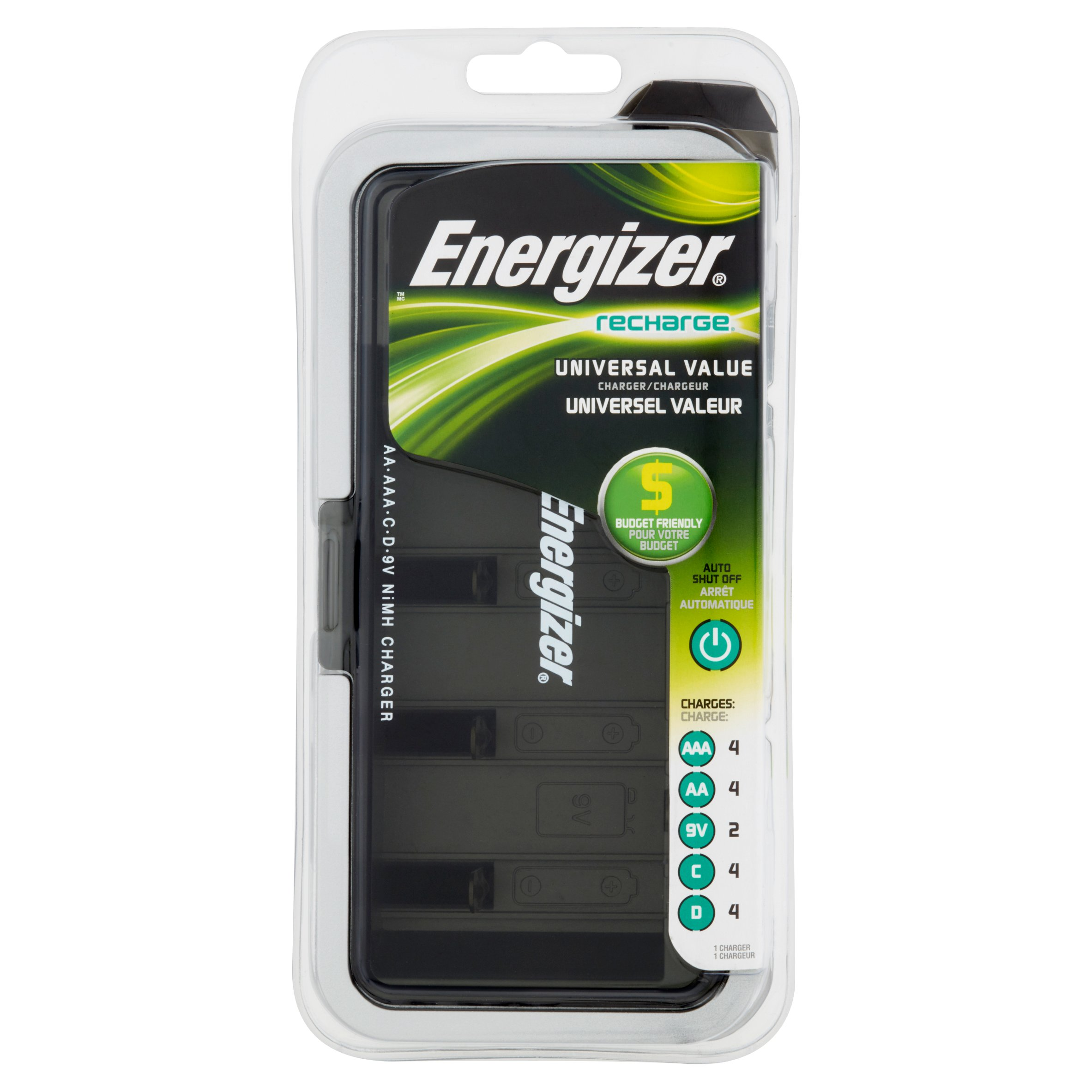 Energizer Recharge Universal Value Charger