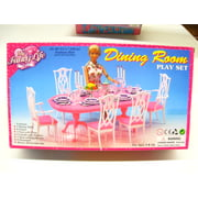 My Fancy Life Dinning Play Set,Gloria, Barbie doll size doll house furniture set