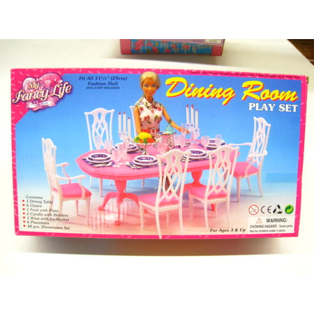 My Fancy Life Dinning Play Set,Gloria, Barbie doll size doll house furniture set Barbie Dream House Accessories