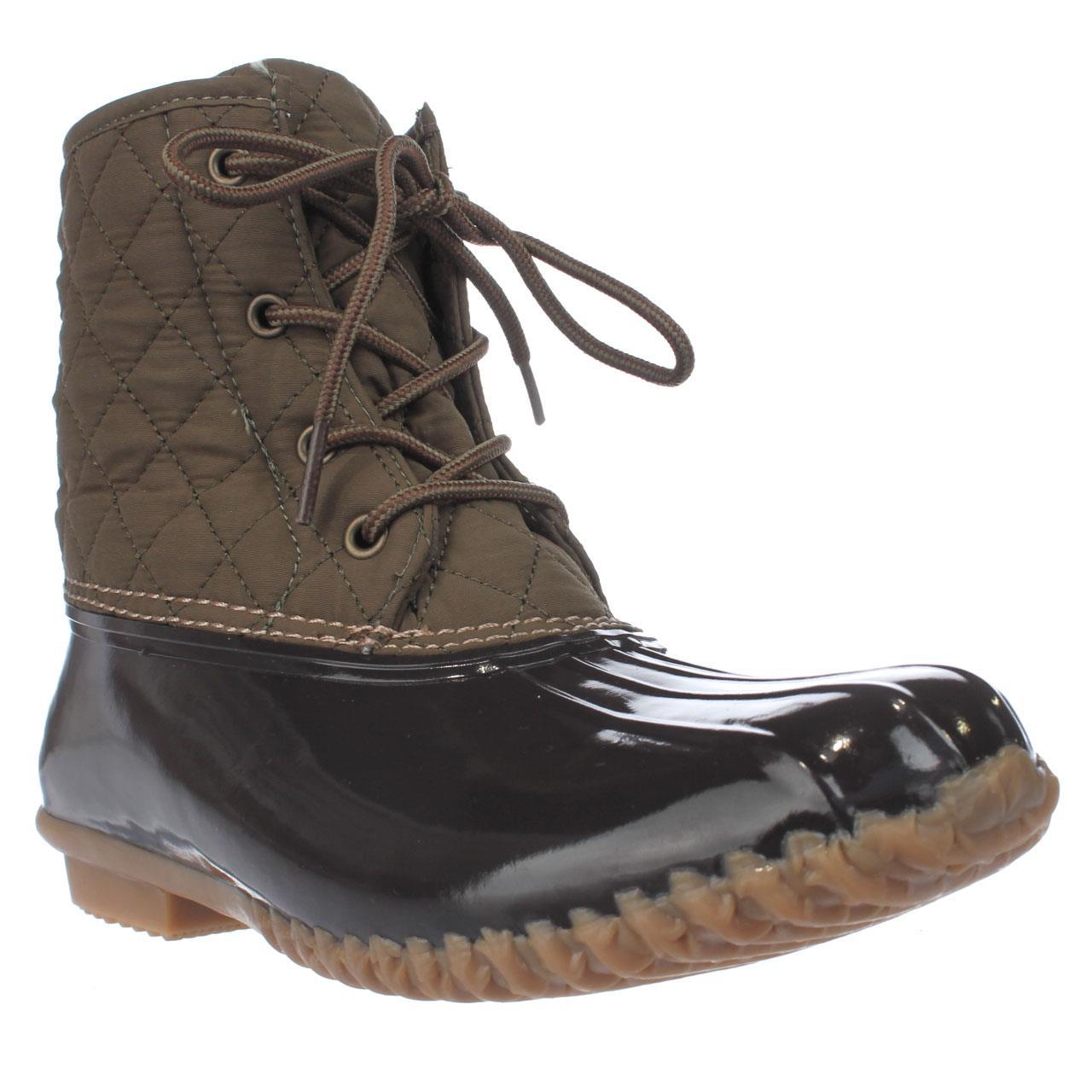 Womens JBU by Jambu Stefani Mid-Calf Rain Boots, Army Green Brown by Jambu