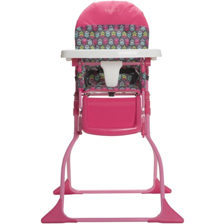 Cosco Simple Fold Full Size High Chair Floral Pop Walmart