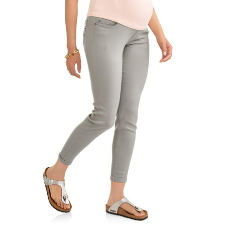 Maternity Full Panel Skinny Boyfriend Pant with 5 Pockets and Roll Cuffs--Available in Plus Size - Plus Size Bell Bottoms