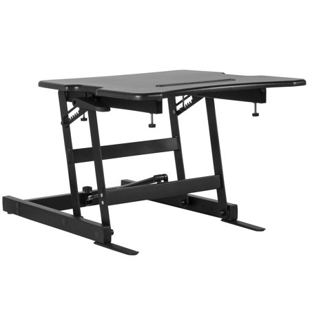 Lancaster Home Hercules Series Sit/Stand Height Adjustable Desk with Height  Lock Feature