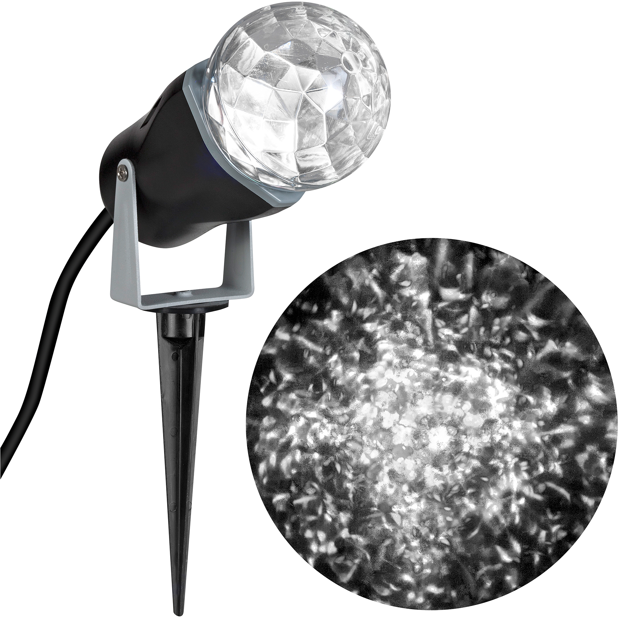 Gemmy Lightshow Christmas Lights Projection Kaleidoscope Lights, White