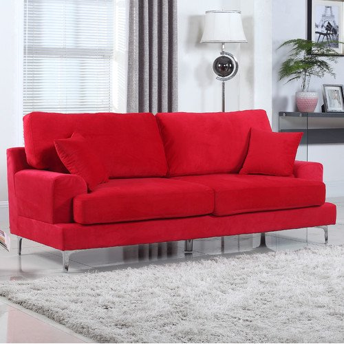 Ultra Modern Living Room: Madison Home USA Ultra Modern Plush Velvet Living Room