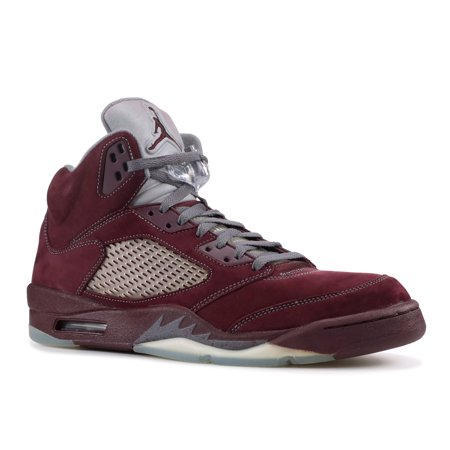 Nike Mens Air Jordan 5 Retro LS Deep Burgundy/Light Graphite-Silver