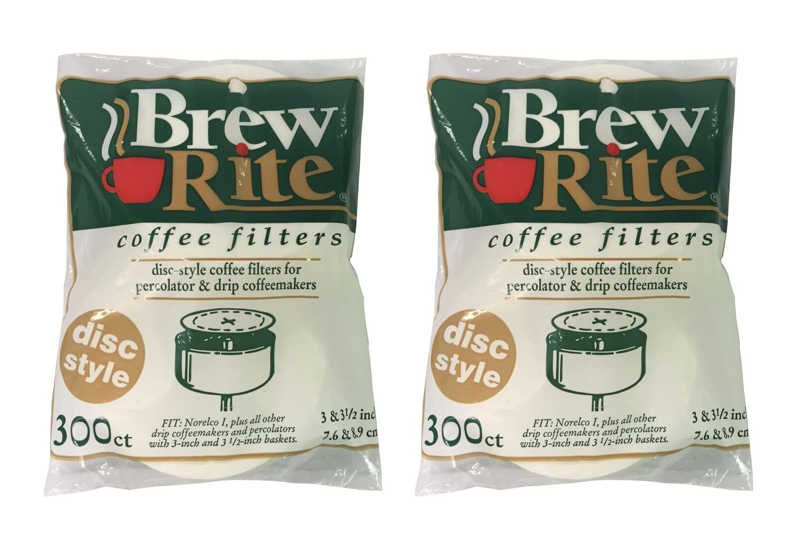 300ct NEW Coffee Filters for Norelco I Disc Flat Paper Filters
