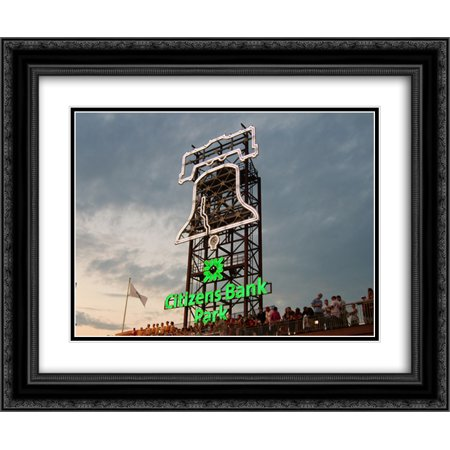 Citizens Bank Park 2X Matted 24X20 Black Ornate Framed Art Print From The Stadium Series