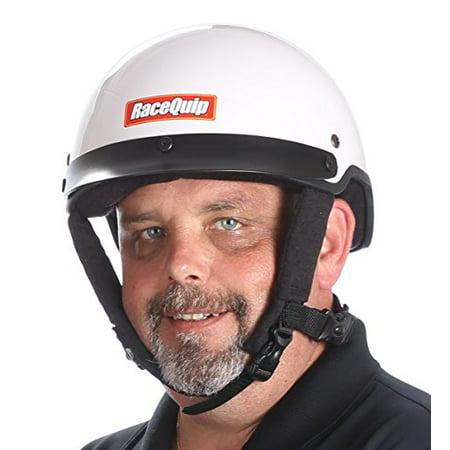 RaceQuip 251117 White XX-Large Shorty Fire Retardant Crew Helmet (Accepts