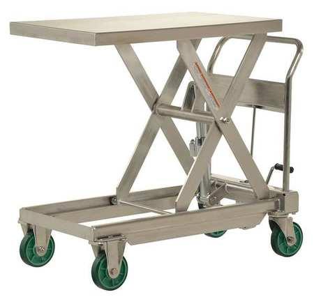 Scissor Lift Cart,1100 lb.,SS,Fixed G9821847 by VALUE BRAND