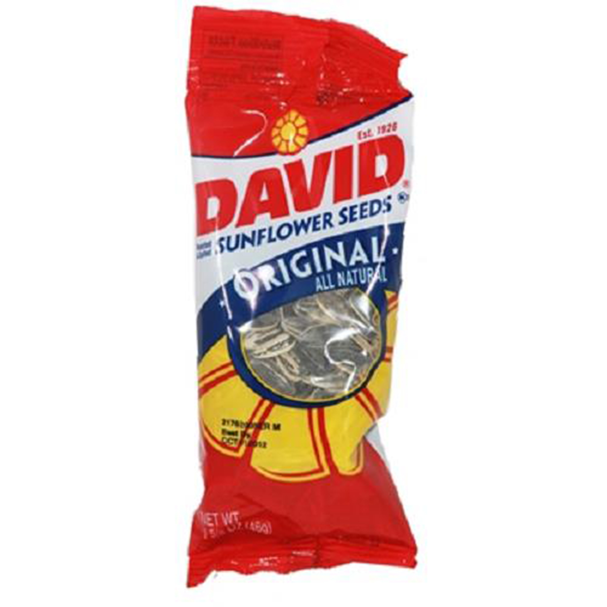 Product Of David, Sunflower Seeds Original , Count 12 (1.625 oz) - Sunflower Seeds / Grab Varieties & Flavors