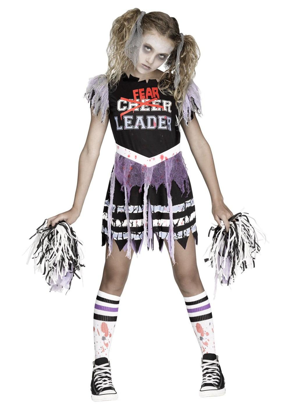 girls zombie cheerleader costume walmartcom