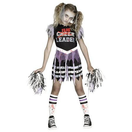 Kids Zombie Cheerleader Costume 7 (Girls Zombie Cheerleader)