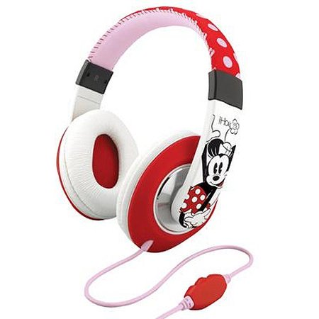 Minnie Mouse Fashion Over-The-Ear Headphones with Over-The-Ear headphones with Volume Control (MF-M48) - Minnie Mouse Headphones