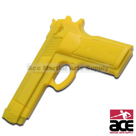 """7"""" Yellow RUBBER TRAINING GUN Police Dummy Non Firing Real Look and Feel"""