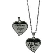 """Connections from Hallmark Stainless-Steel Inscribed Nana Heart Pendant, 18-20"""""""