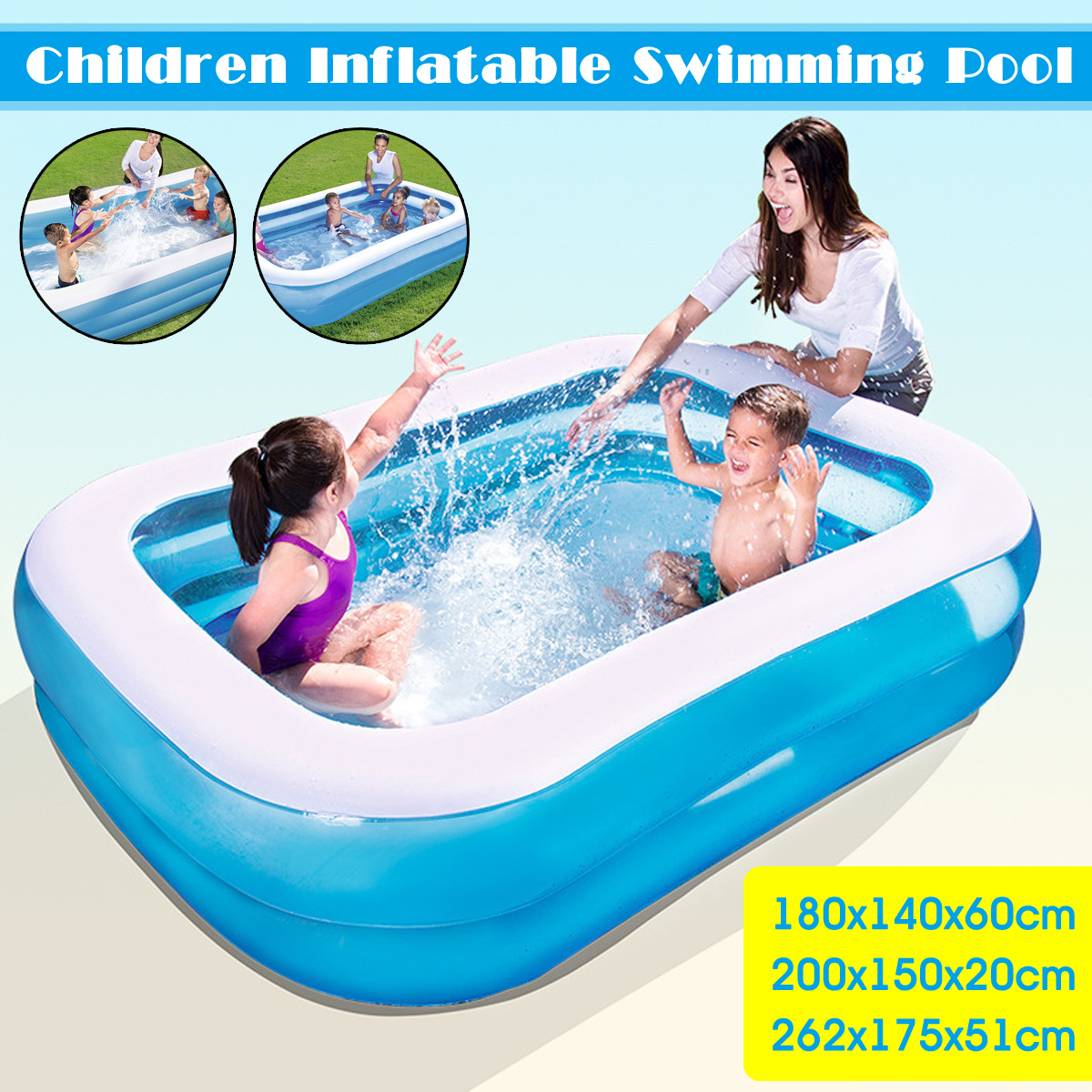 Children Inflatable Swimming Pool Large Family Summer Outdoor Play PVC Pool Kids