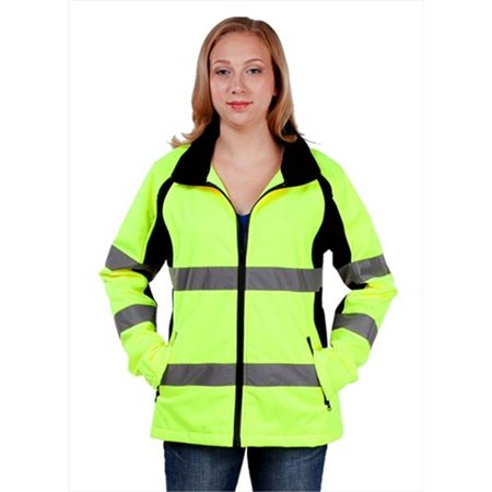 Utility Pro Wear Uhv668med High Visibility Green Full Zip Ladies Soft Shell   Medium