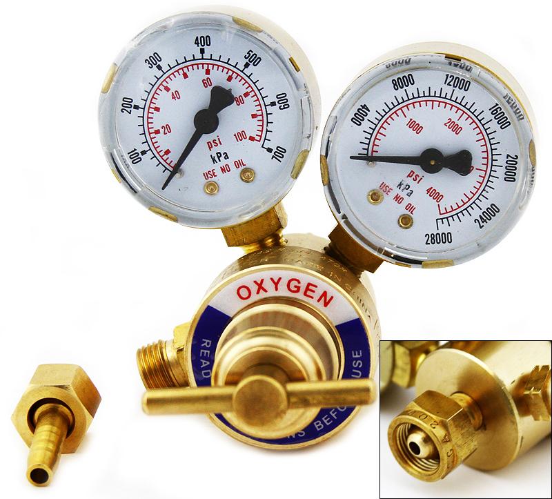 Handy Oxygen Solid Brass Gas Welding Pressure Gauge Regulator, Victor Type